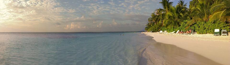 Maldives, Sea view, Holiday, Sea, Paradise, Sunset
