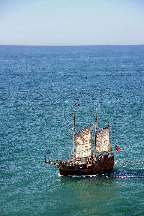Seafarer, Pirate, Sailing Vessel, Sail, Ship, Corsair