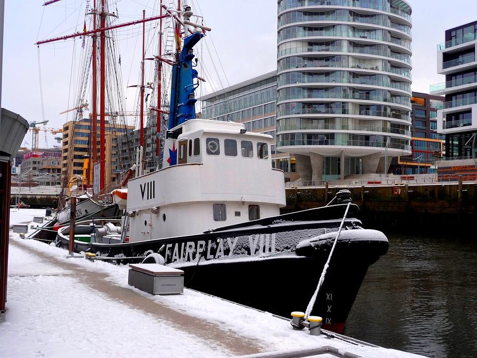 Tug, Port, Seafaring, Ship, Hamburg, Boot, Industry