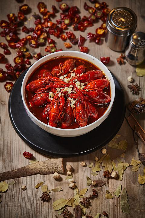 Seafood, Lobster, Crayfish, Gourmet, Dishes, Vegetables