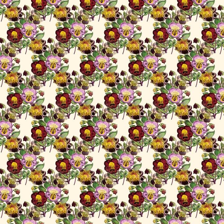 Floral Background, Pattern, Seamless, Decorative