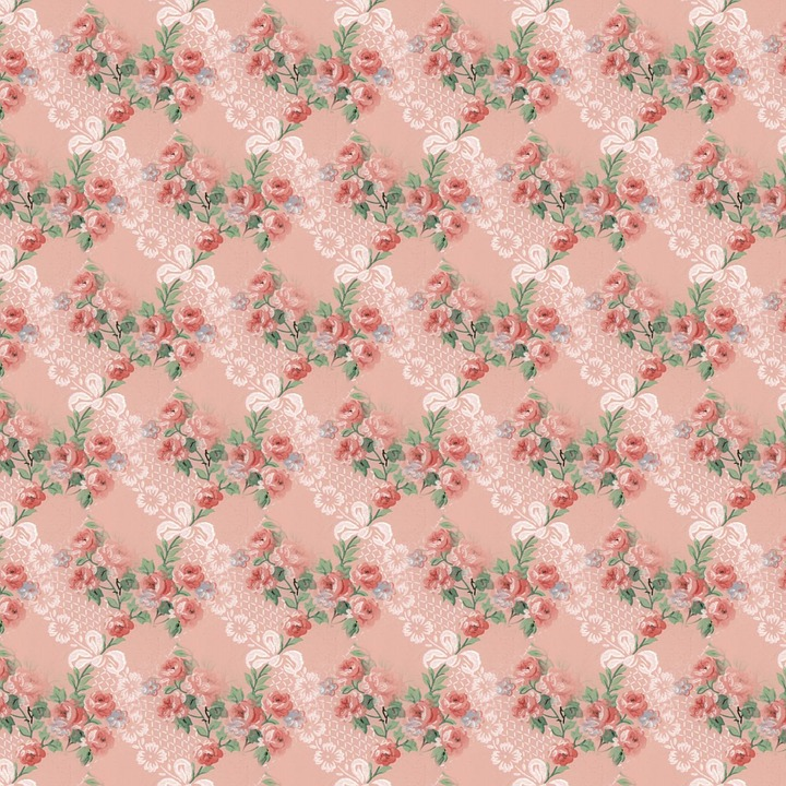 Floral Background, Scrapbooking, Decorative, Seamless