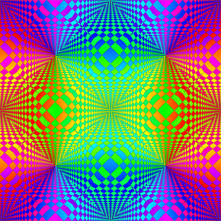 Pattern, Colorful, Abstract, Op-art, Seamless, Bright