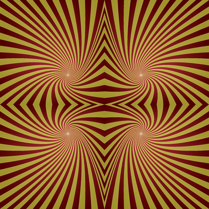 Spiral, Patter, Seamless, Red, Yellow, Ornament