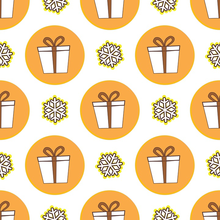 Seamless Pattern Repeat, Holiday Background