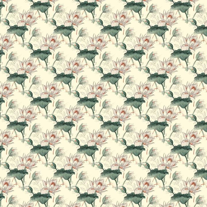 Floral, Pattern, Scrapbook, Seamless, Decorative