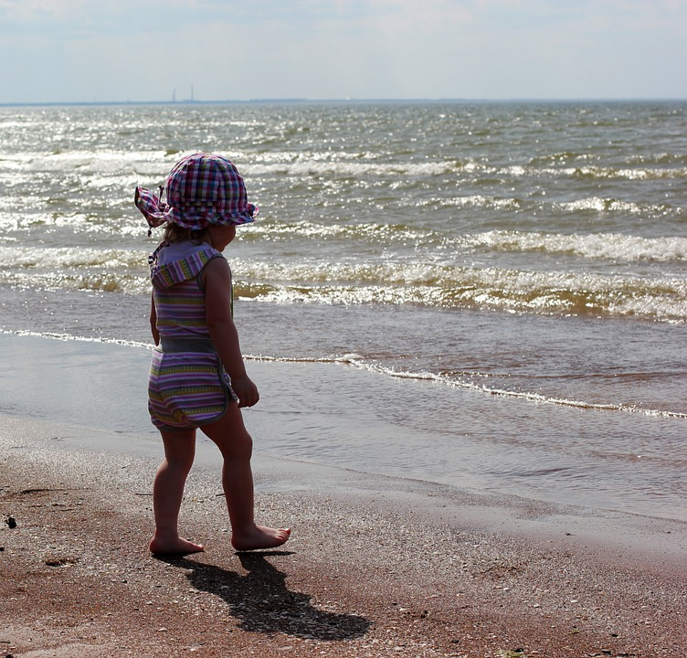 Baby, Sea, Beach, Water, Seascape, Sun, Summer