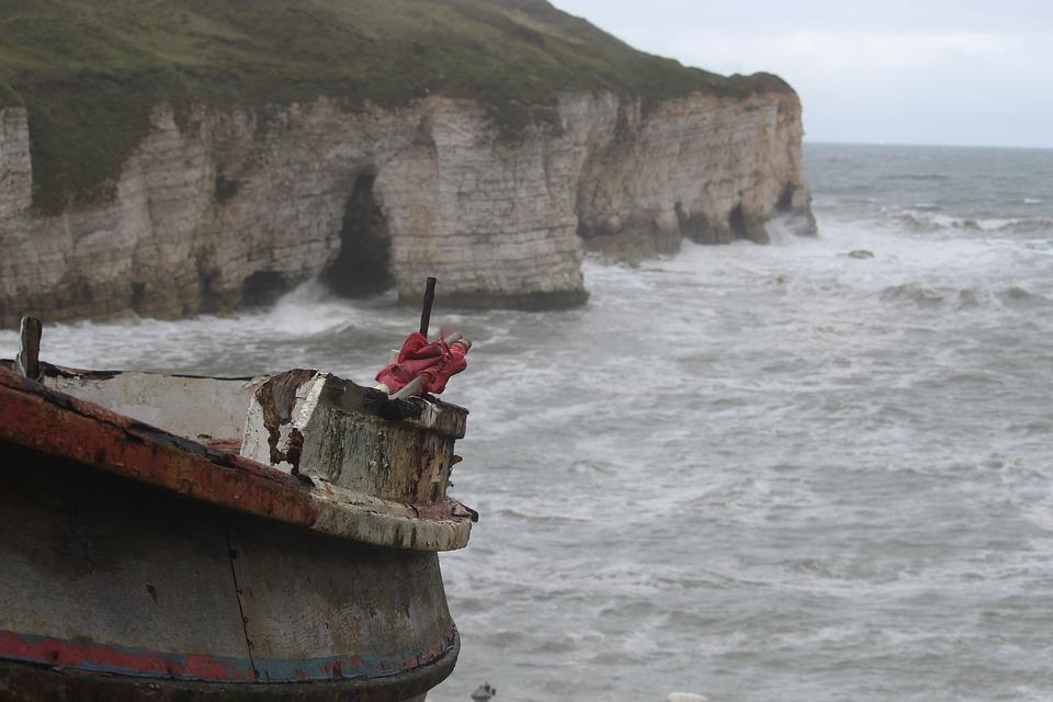 Yorkshire, Flamborough, Seaside, Cliffs, Sea, Seascape