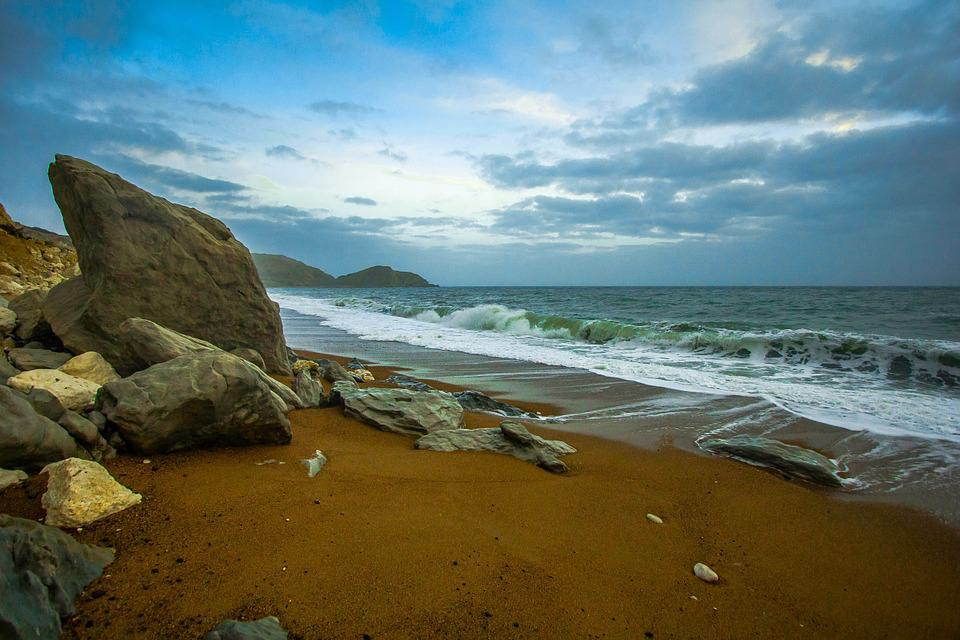 Dorset, Worbarrow Bay, Waves, Ocean, Nature, Seascape
