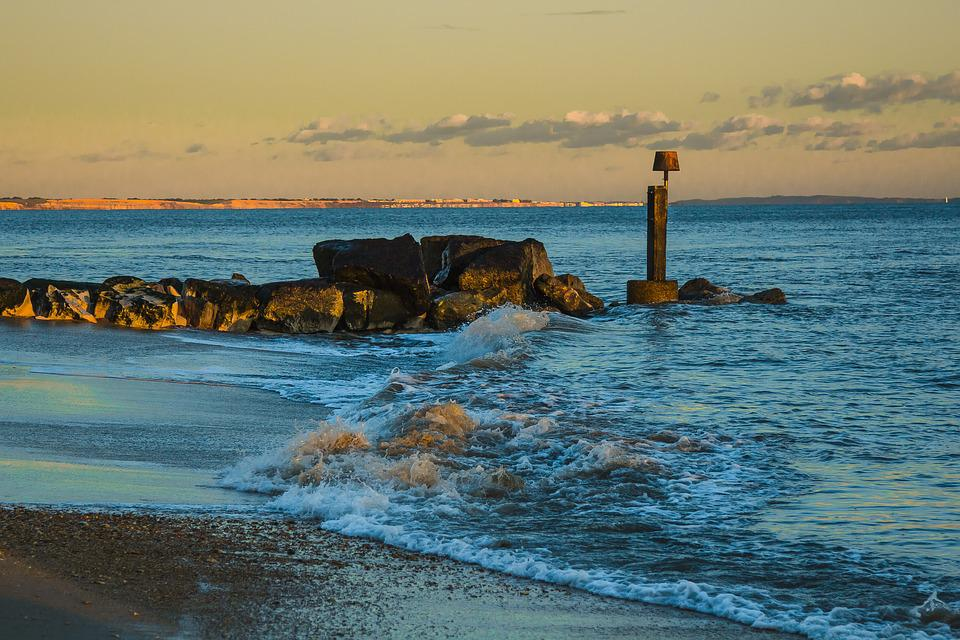 Beach, In The Evening, Seascape, England, Ocean