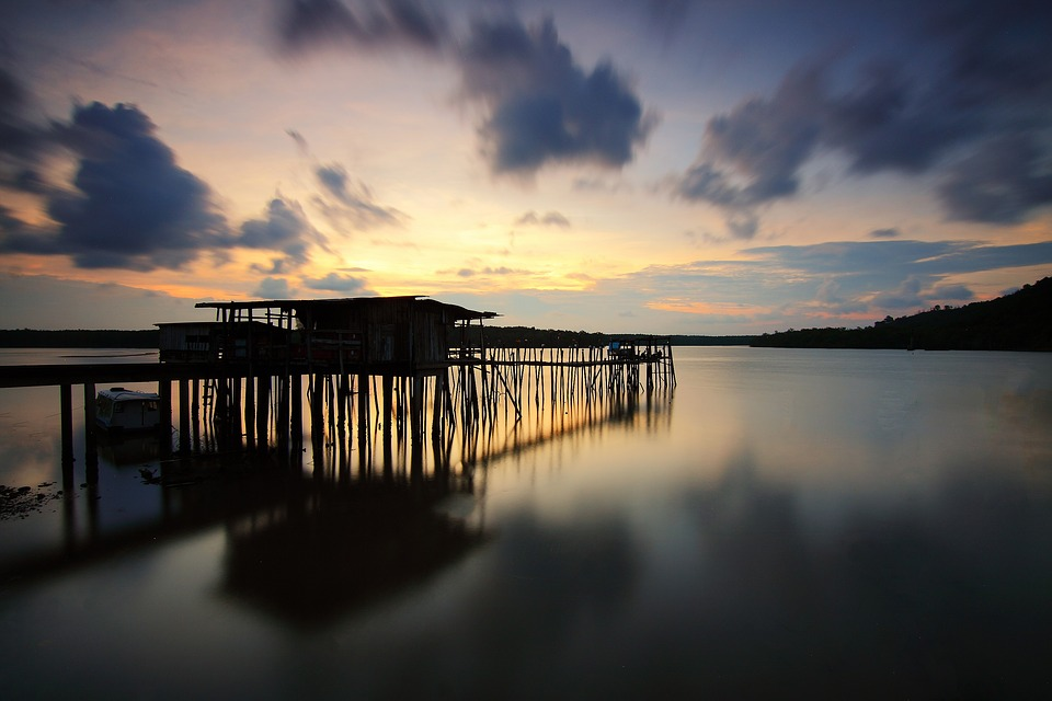 Cloud, Jetty, Seascape, Outdoors, Nature, Sunset