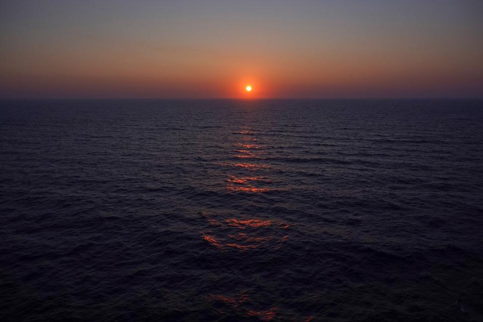 Sunset, Sky, Sea, Seascape, Ocean, Dusk, Nature, Water
