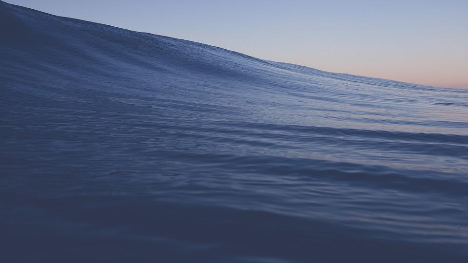 Wave, Blue Water, Ocean, Sea, Seascape