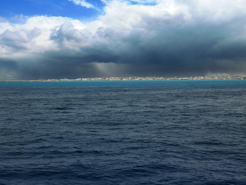 Seascape, Contrast, Red Sea, Erratic Weather, Coast