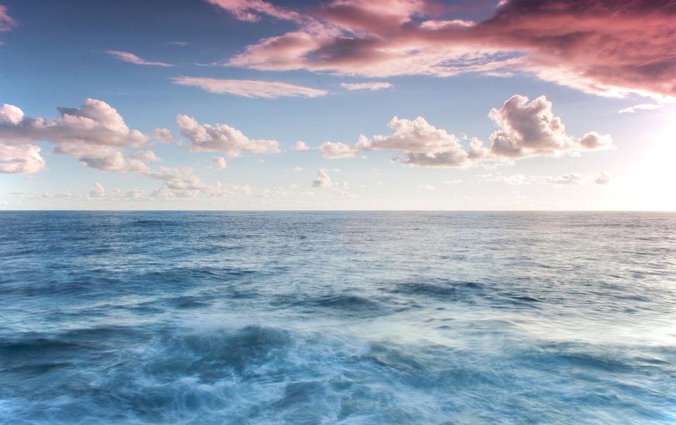 Sea, Ocean, Blue Waters, Seascape, Cloudscape, Clouds