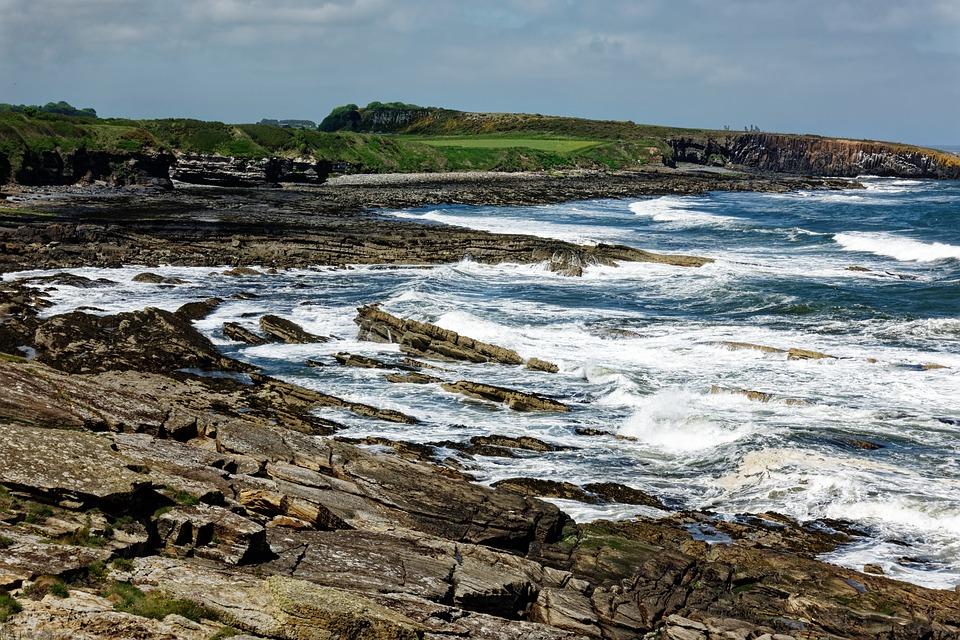 Sea, Waves, Rocks, Bay, Seashore, Coast, Landscape