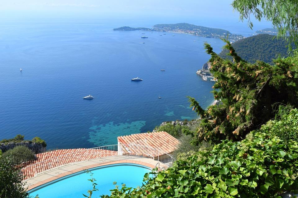 Infinity Pool, Seaside, France, Coast, Mediterranean
