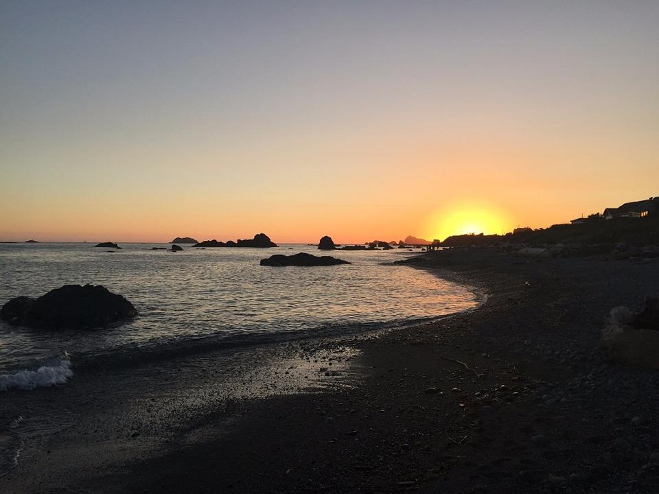 Oregon, Coast, Beach, Pacific, Seaside, America, Nature
