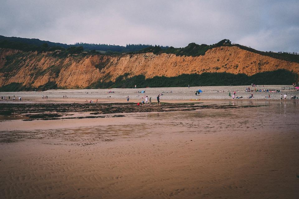 Sidmouth, Devon, Beach, Seaside, Summer, England