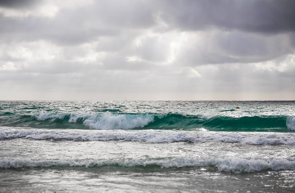 Wave, Beach, Water, Summer, Sea, Clouds, Seaside