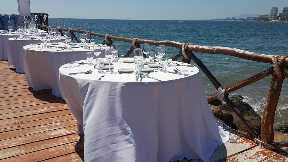 Puerta Vallarta Mexico, Seaside Wedding Reception