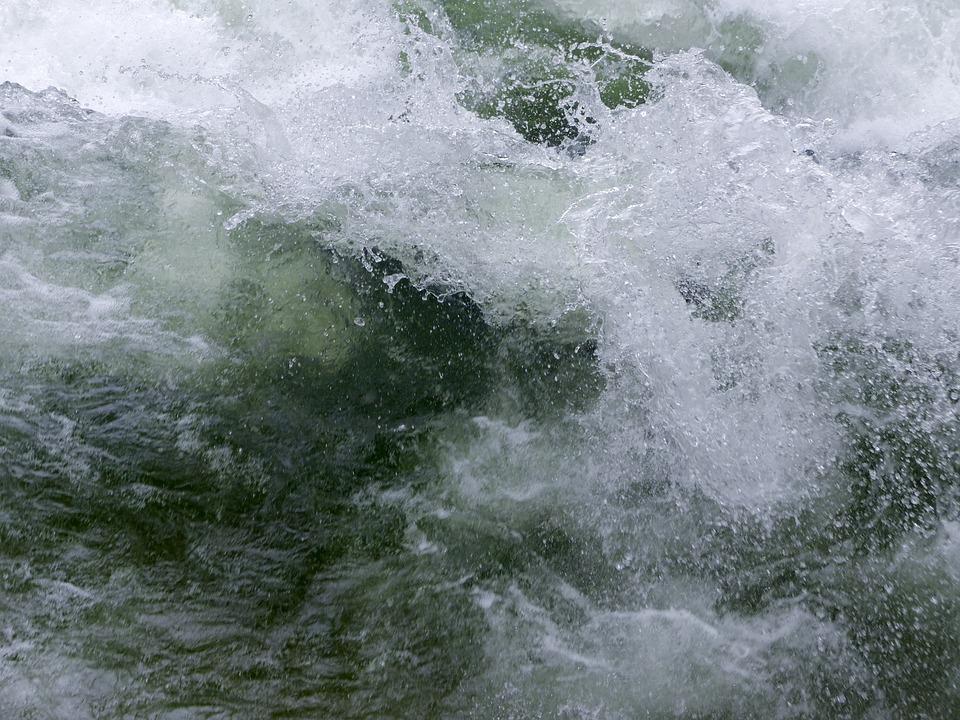 Rushing, Ice Cold, Clear, Water, Creek, Nature, Season