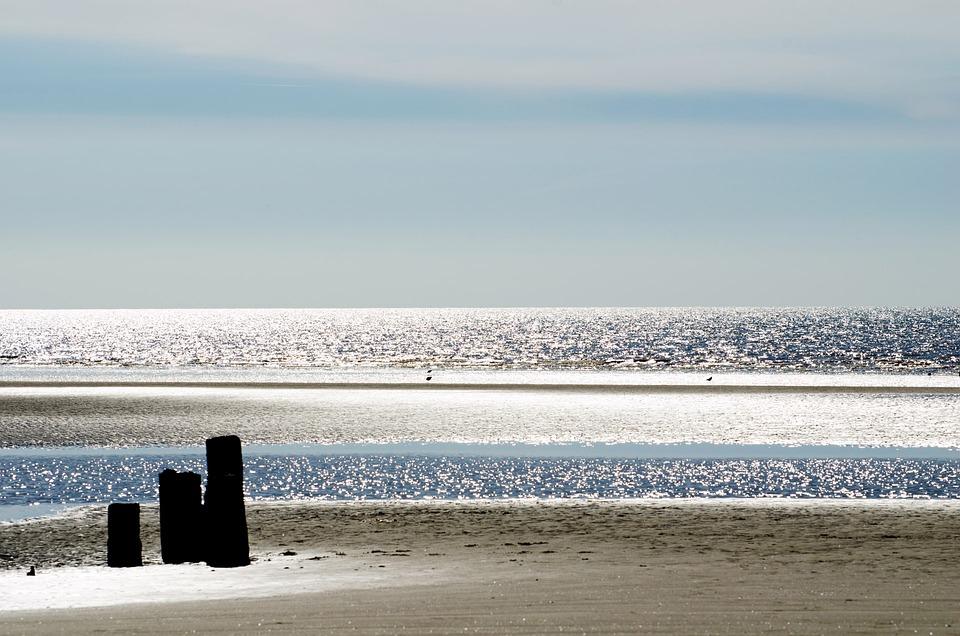 Blackpool, Sea, Beach, Landscape, Season, Spring