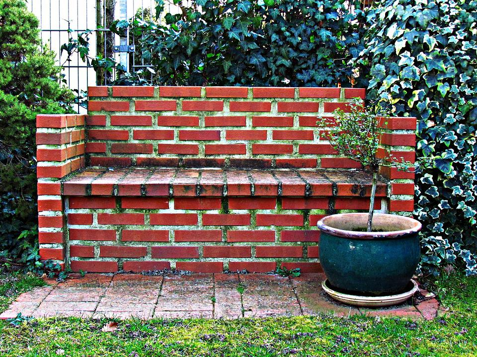 Bench, Brick, Seat, Old, Stone