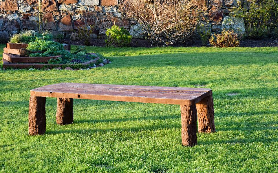 Wood, Bench, Garden, Ornament, Wooden, Seat, Green