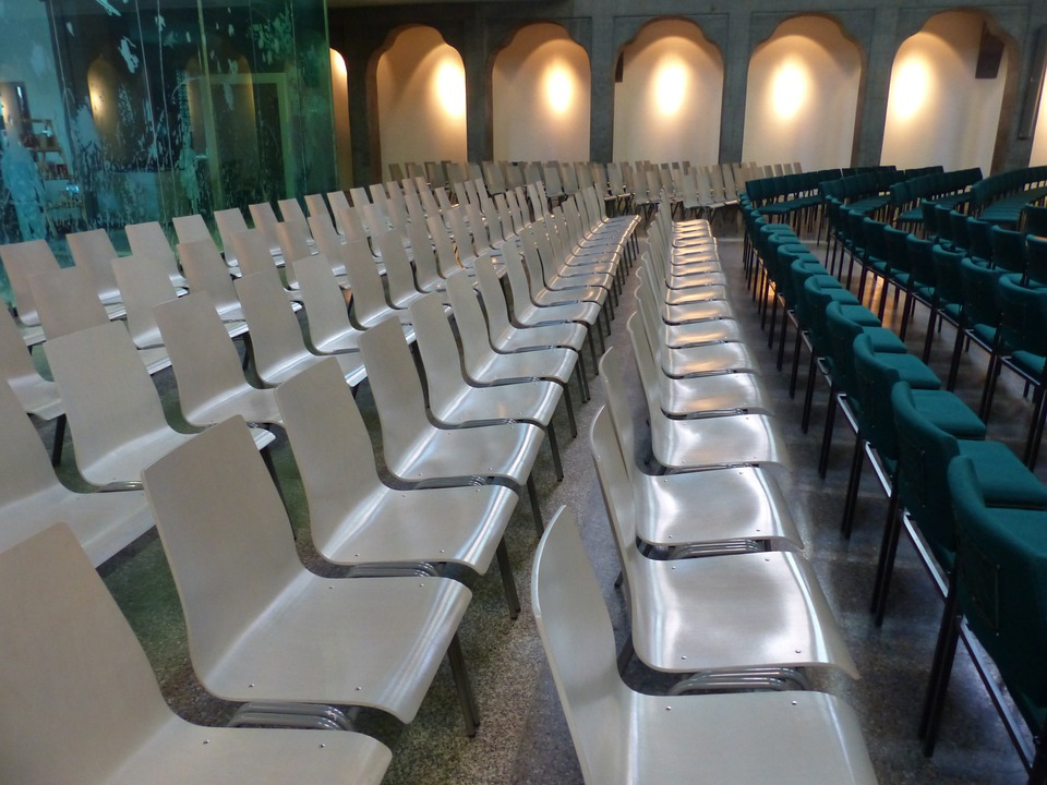 Chairs, Chair Series, Rows Of Seats, White, Green, Seat