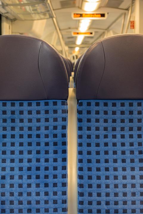 Train, Seat, Railway, Travel, Zugfahrt, Empty