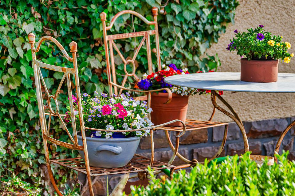 Garden, Seating Area, Garden Furniture, Stylish