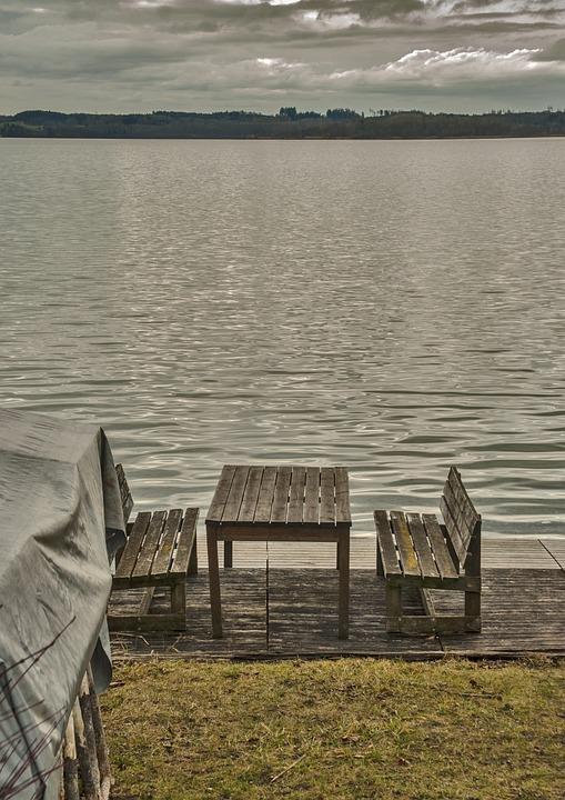 Lake, Water, Landscape, Seating Arrangement, Bank