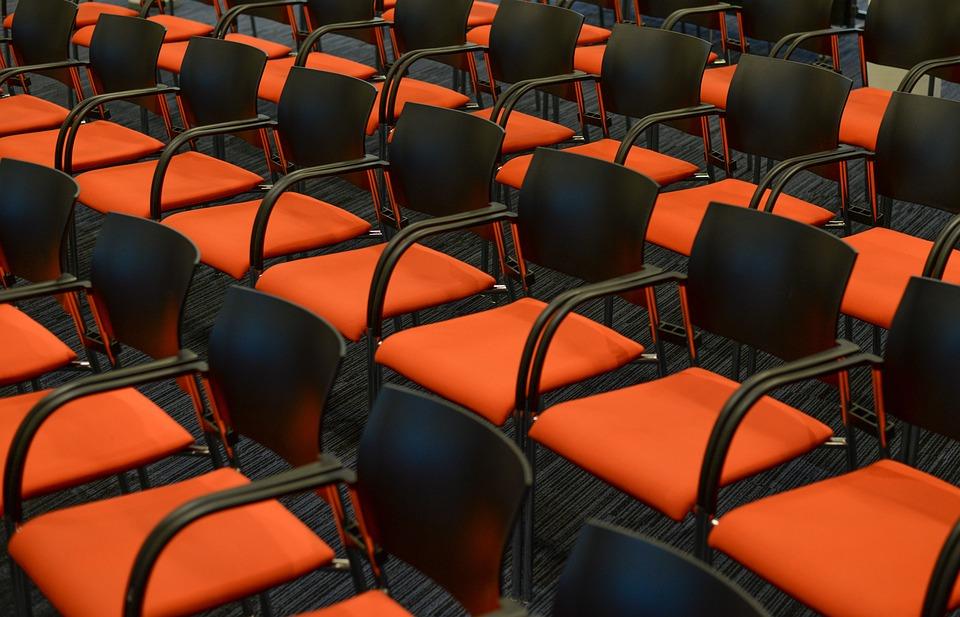 Seats, Orange, Congress, Empty, Theater, Interior