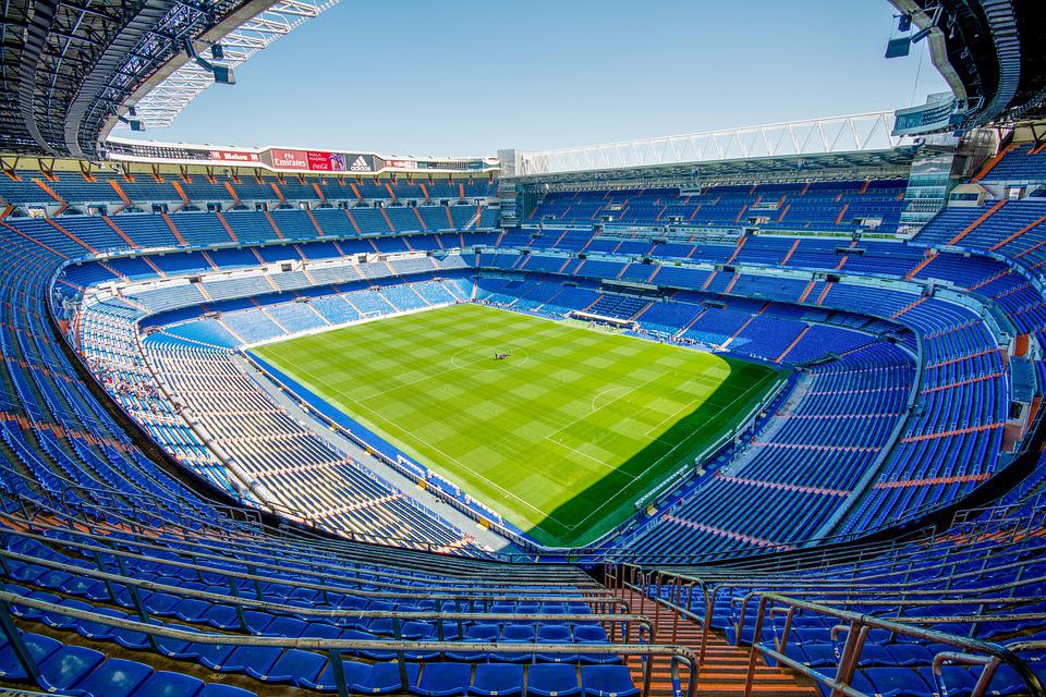 Stadium, Bleachers, Seats, Soccer Stadium