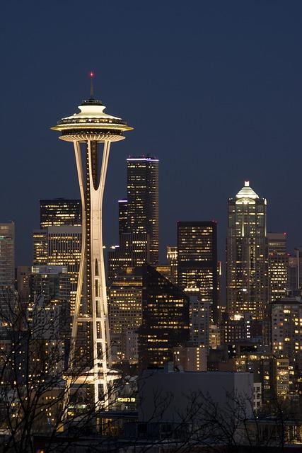 City, Seattle, Washington, Landmark, Space Needle