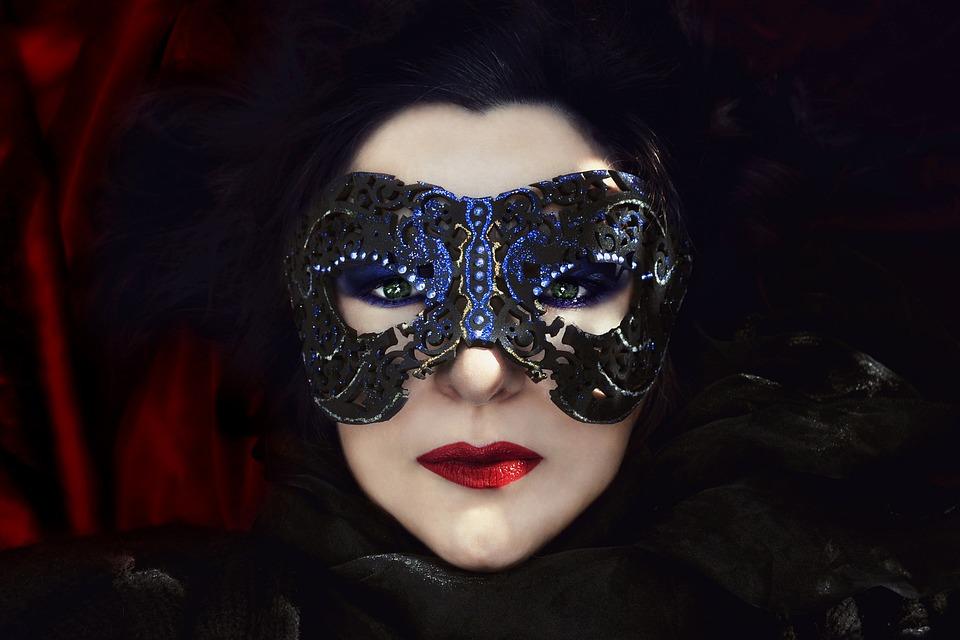 Fashion, Portrait, Secret, Face, Glamour, Mask, Woman