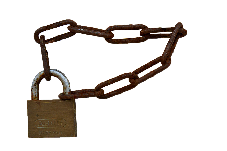 Padlock, Chain, Castle, Isolated, Secure, Security