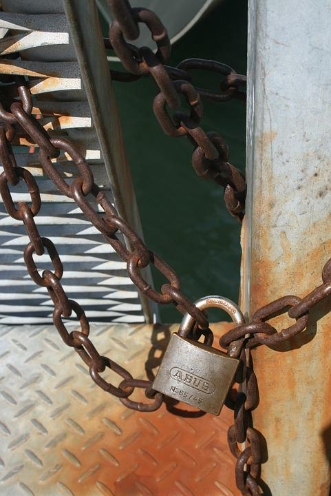 Padlock, Lock And Chain, Chain, Steel, Safety, Secure