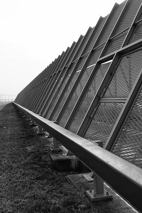 Fence, Black And White, Security, Border, Protection