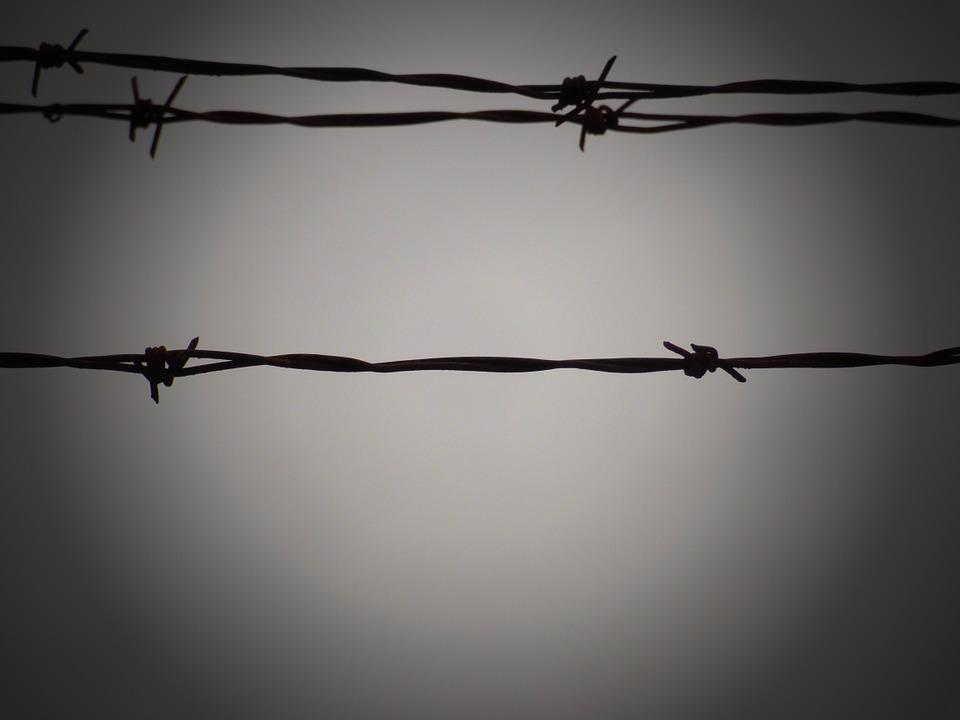 Prison, Wires, Iron, Wall, Security