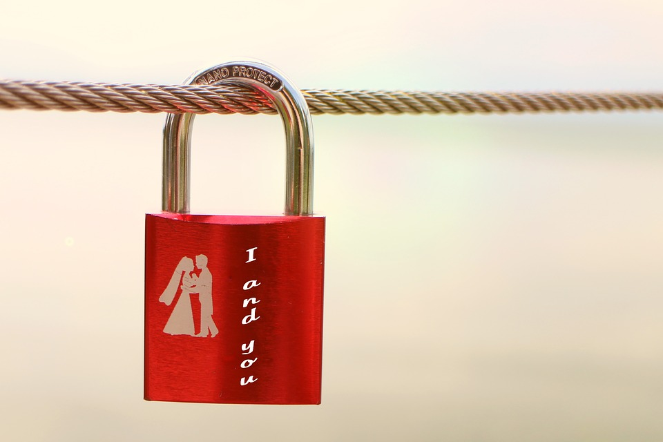 Security Lock, Symbol, Love, Connectedness, Red