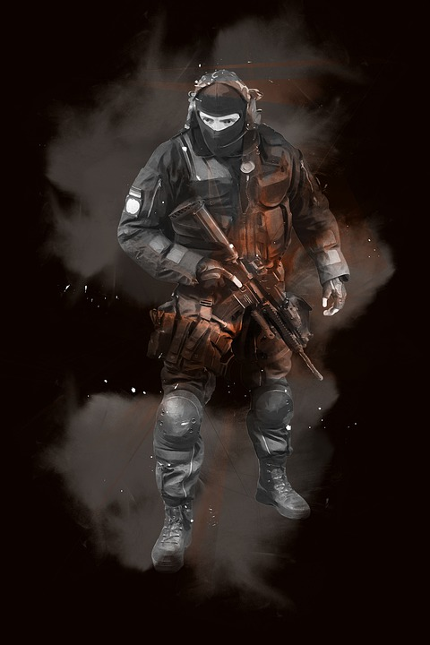 Man, Male, Soldier, Police, Security, Professional
