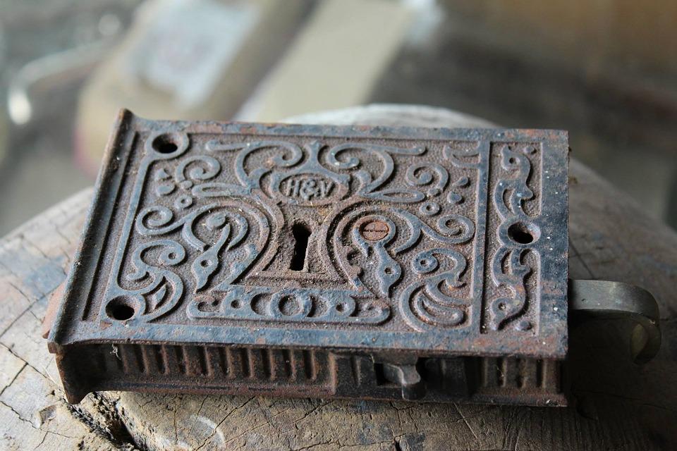Lock, Rust, Antique, Old, Metal, Door, Security