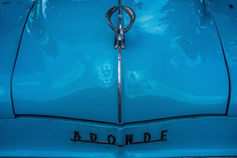 Simca, Plate, Sedan, Family, Car, Blue, Collection