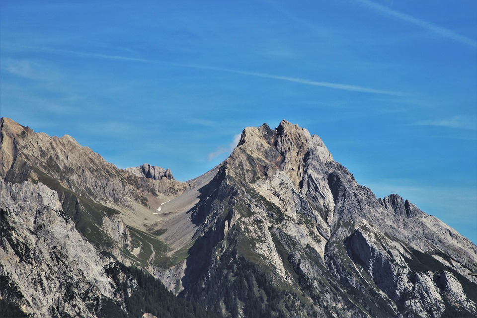 The Alps, See, Up, View, High, Rocky, Rock, Mountains