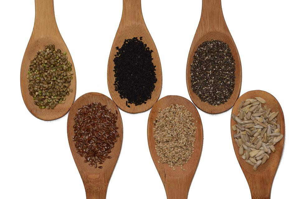 Seeds, Sunflower Seeds, Chia, Sesame, Flax Seed