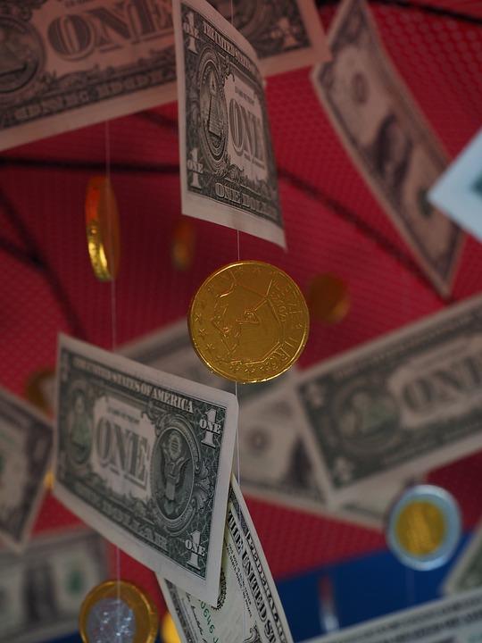 Coin, Money Rain, Dollar Rain, Seem, Specie, Money