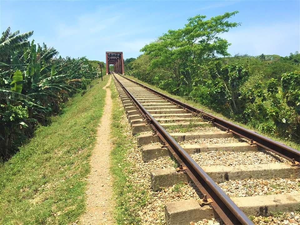 Railway, Seemed, Track, Cuba, Lonely, Bridge, Caribbean