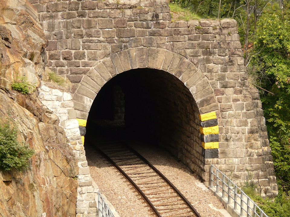 Eisenbahtunnel, Tunnel, Railway, Rail, Seemed, Track